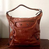 Authentic Balenciaga Arena Classic Day Bag - Cognac Photo