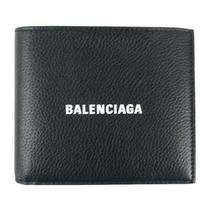 Authentic Balenciaga Bi-Fold Wallet Purse Leather Black White Used Photo