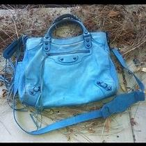 Authentic Balenciaga Handbag Blue  Photo