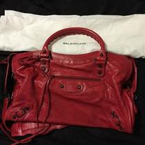 Authentic Balenciaga Handbag Red  Photo