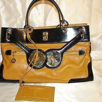 Authentic Balenciaga Handbag Yellow Black Sac Lune Tote Bag Euc Photo