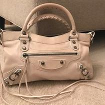 Authentic Balenciaga Ivory White Lambskin Classic First 2way Bag W/mirror Strap Photo