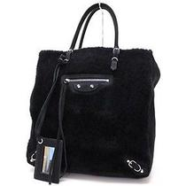 Authentic Balenciaga Mouton Paper A5 Tote Bag Black 255412  Photo
