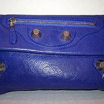 Authentic Balenciaga Purple Clutch Photo