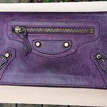 Authentic Balenciaga Vintage Violet Wallet Photo