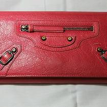 Authentic Balenciaga Wallet Classic Continental Red Photo