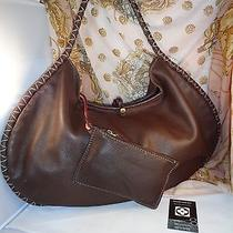 Authentic Bally Designed by Brian Atwood Brown Pebbled Lambskin Leather Bag Vguc Photo