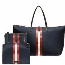 Authentic Bally of Switzerland Foldable Travel Tote-Navy-Unisex Brand New in Box Photo