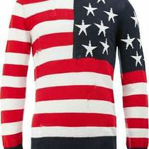 Authentic Balmain American Flag Linen Sweater - Size Xl - Bnwt Photo