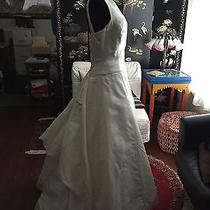 Authentic Beautiful Vera Wang Wedding Formal Dress Gown Size 6 / 8 - Made in Usa Photo