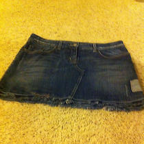 Authentic Bebe Jean Skirt  Photo