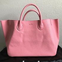 Authentic Beck Medium Classic Blush Bubblegum Pink Leather Tote Bag  Nwot Photo