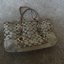 Authentic Beige Coach Handbag Photo