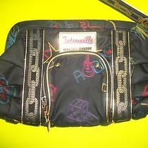 Authentic Betseyville Betsey Johnson Flamingo Guitar Wrist Strap Clutch Purse Photo