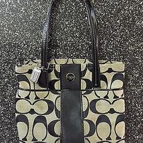 Authentic Black and Gray Coach Tote Style Purse Photo