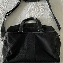 Authentic Black Coach Signature Hudson Commuter Briefcase Laptop Bag F70181 Photo
