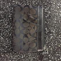 Authentic Black Coach Wristlet Black  Photo