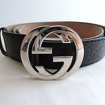Authentic Black Gucci Belt Model 114984  Size 100-40 480199 Photo