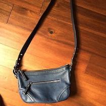 Authentic Blue Pebbled Leather Coach Purse Handbag Crossbody Photo