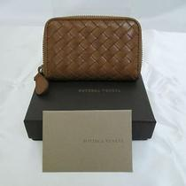 Authentic Bottega Veneta Classic Intrecciato Brown Coin Case 2385 Photo