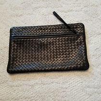 Authentic Bottega Veneta  Intrecciato Black Leather Clutch  Photo