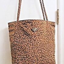 Authentic Bottega Veneta Reversible Animal Print Nylon Tote Bag W/mirror  Photo