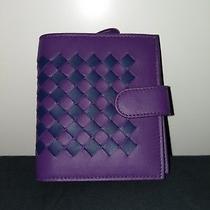 Authentic Bottega Veneta Womens Wallet Woven Bifold Leather Photo