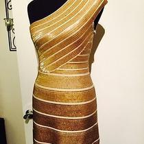 Authentic Brand New Herve Leger Gold Dress Photo