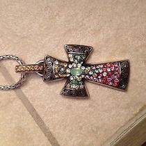 Authentic Brighton Voyage Cross Necklace Nwt Photo