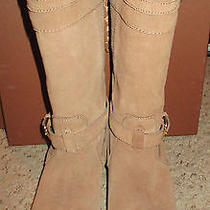 Authentic Brown Camel Natural Tallulah Coach Boots Size 7 Style A8797 W/ Box Photo