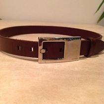 Authentic Brown Leather Gucci Belt 28 Photo