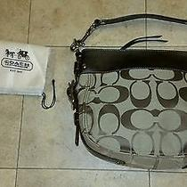 Authentic Brown Signature  Coach Zoe Handbag Photo