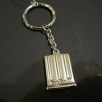 Authentic Bulgari Bvlgari Sterling Silver Column Keychain Key Chain Ring W/tag Photo