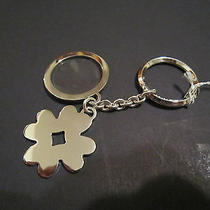 Authentic Bulgari Bvlgari Sterling Silver Four Leaf Clover Keychain Key Chain Photo