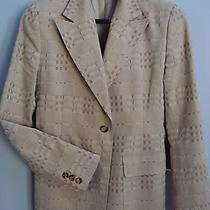 Authentic Burberry Beige on Beige Bold Check Single-Breasted Blazer / Jacket Photo