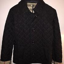 Authentic Burberry Brit Copford Quilted Black Jacket Xs Like New Without Tags Photo