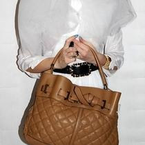 Authentic Burberry Brown Quilted Lambskin Leather Hobo Bag Purse Photo