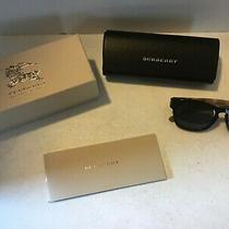 Authentic Burberry Eyeglasses Hard Case Black With Box Pamphlet Dark J153 Photo