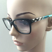 Authentic Burberry Frame Optic Glasses Be B 2143 Be2143 Black Silver Aqua Photo