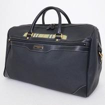 Authentic Burberry Golf Black Nylon X Leather Travel Bag Photo