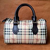 Authentic Burberry Haymarket Check Classic Speedy Satchel Purse Handbag  Photo