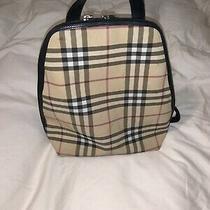 Authentic Burberry London Classic Nova Check Leather/pvc Backpack Hand Bag Photo