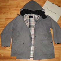 Authentic Burberry London Hooded Man's Coat Jacket Size M Photo