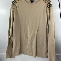 Authentic Burberry London Womens Sz Xl Beige Pullover Sweatshirt Photo