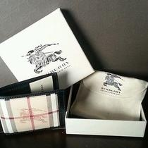Authentic Burberry Men's Wallet Black Haymarket Nwt Dustbag and Gift Box Photo