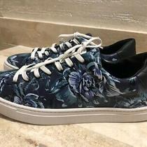 Authentic Burberry Mens Blue Leather Flower Sneakers Size 44 Photo