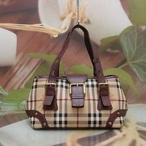 Authentic Burberry Nova Check Classic Luxury Tote Bag Photo