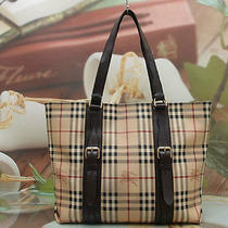 Authentic Burberry Nova Check Luxury Big Shoulder Bag Photo