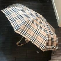 Authentic Burberry Nova Plaid Check Pattern Umbrella Photo
