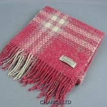 Authentic Burberry Pink Check Pattern Angora/wool/cashmere Scarf Great Condition Photo